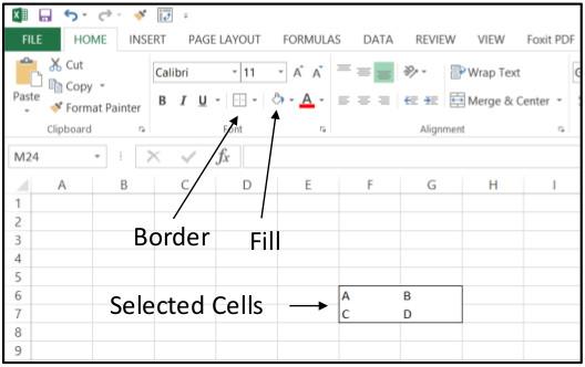 Excel Create Horizontal 1