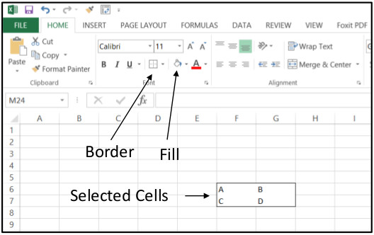 Excel Create Horizontal 1