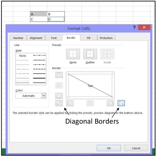 Excel Create Horizontal 2