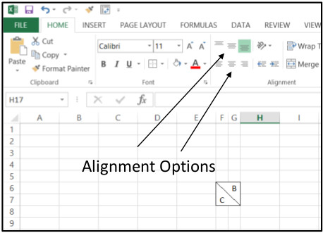 Excel Create Horizontal 3
