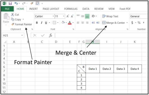 Excel Create Horizontal4