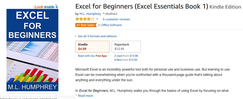 Excel 4 Beg #1 Bestseller Tag